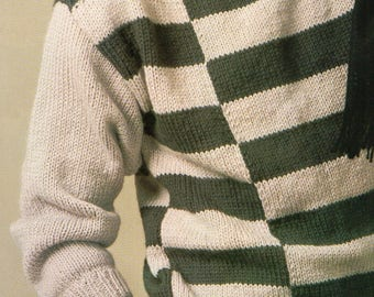 Men's Jumper, Knitting Pattern, Instant Download.