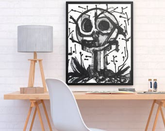 ALI - Jack Skellington from The Nightmare Before Christmas poster print perfect to decor your room or home (MEGA Limited Edition)