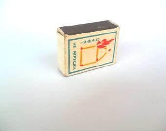 Retro matches, Matches USSR, Matches soviet, Old matches, Wooden matches, intage matchbox, Vintage matchbox