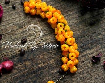 Berries bracelet jewelry of polymer clay cloudberry bracelet bracelet idea gifts bracelet with berries handmade