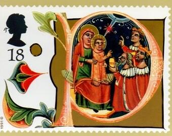 Christmas 1991, British Royal Mail postcards, Set of 5.