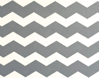 Gray Chevron Cotton Fabric, Fabric by the Yard, Quilting Fabric, Apparel Fabric
