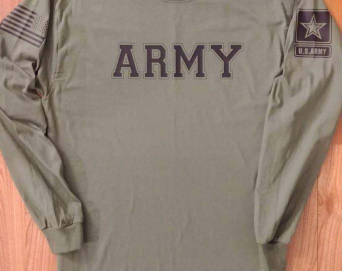 Army - Army Long Sleeve - Mens Army Shirt - Womens Army Shirt - Army National Guard - Army Veteran - Army Wife - Army Long Sleeve Shirt