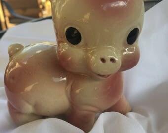 Vintage Pink Pig