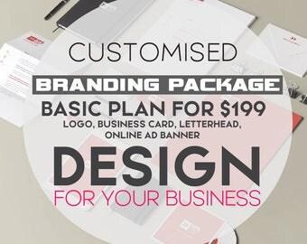 Custom Branding package| branding kit| brand identity| business identity | business brand kit| business branding | marketing kit