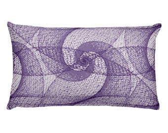 Purple Fractal Rectangular Pillow 20 x 12 2018 purple color of the year rectangular pillow