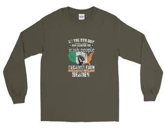 St Patrick Irish Heros Long Sleeve T-Shirt