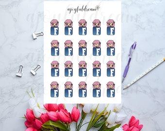 Chibi Elf - Facebook Girl Planner Stickers