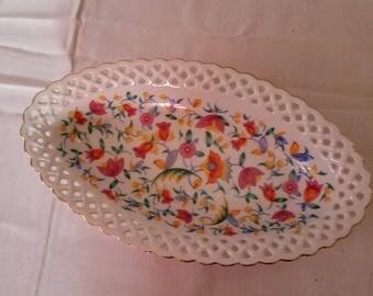 Beautiful Hand Painted Relish Dish