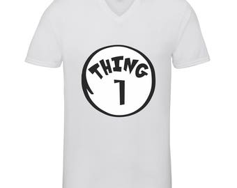 Thing 1  Shirts Adult Unisex Men Size V Neck Best Seller T-Shirts Couple Goals