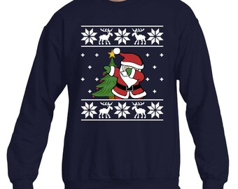 Ugly Sweater Christmas Dab Sweatshirt. Santa Dab Sweater. Dabbing Christmas Gift. Funny Ugly Sweater Dabbing Santa