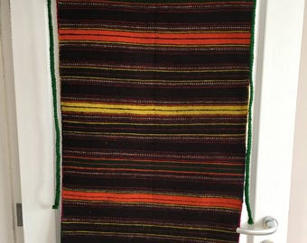 Bulgarian apron - handmade wool apron - Authentic Bulgarian traditional folk apron from the Rhodope  - Vintage traditional Bulgarian aprons