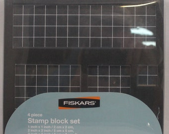 Stamp Block Set, 4 Pieces, NIP 2007 from Fiskars