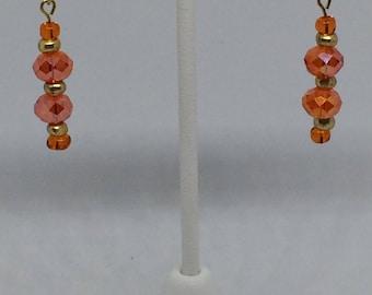 Dazzling Orange Dangle Earrings