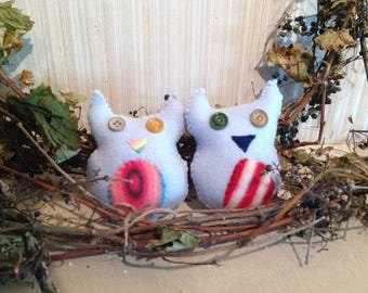 Cute Owl Couple, Fleecy Hoots