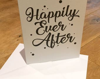 Happily Ever After Card, Happily Ever After, Happy Wedding Card, Wedding Cards, Congraulations Cards, Black and White cards, weddings