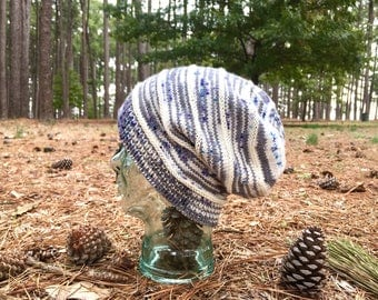 Speckled Wool Slouchy Knit Hat