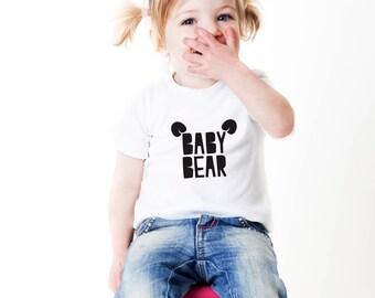 baby bear shirt, baby bear tee, toddler tee, toddler unisex shirt, baby bears theme