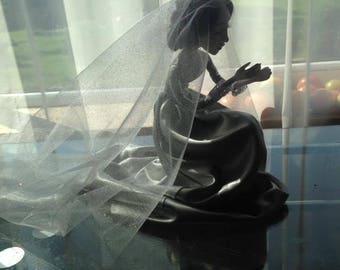 The Bride handmade art doll Laisves dolls