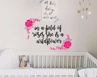 Flowers Wall Decal Nursery Wall Decals Wall Quote Decal Nursery Quote  Sticker  Part 57