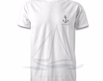 Nautical Edition Anchor All Sizes T-Shirt, Harbour, Coastal Print, Nautical, Beach, Surf T-Shirt, By The Sea, All Sizes, Ocean Print