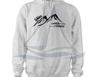 Land Rover Climbing Mountain Hoodie, One Life Live It, Land Rover, Defender, Novelty T-Shirt, Cars,  Land Rover T-Shirt Adults