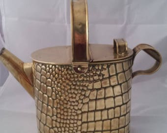 Antique brass watering can ornate design fantastic display piece