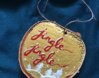 Hand Painted Holiday Wooden Ornament