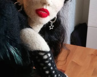 Fantasy//needle-felted figure ' Raven '//Gothischer Engel//statue//Handicraft//Deviantart//art//Collectors