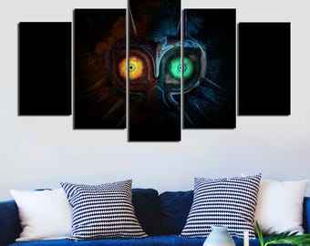 Majoras Mask Etsy - Us beer map wall art