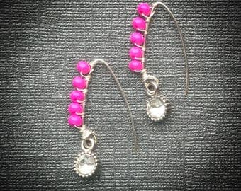 Pink Pop & Bling Earrings