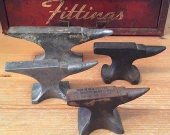 Vintage Group of Mini Anvils