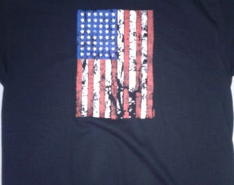 American Flag Distressed graphic t-shirt