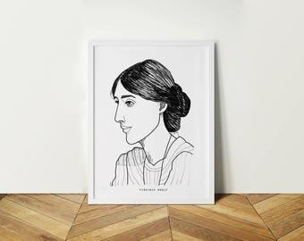 Portrait Virginia Woolf.