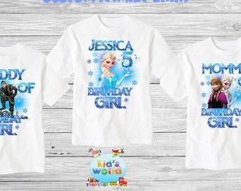 Frozen birthday shirt,Custom shirt ,personalized Frozen custom Shirt, family shirt,birthday shirt,kids custom birthday shirt d22