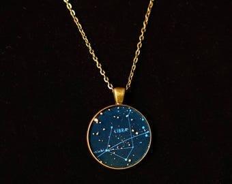 Libra Zodiac Pendant w 30inch chain