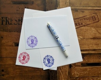 Cameo Letter/Writing/Stationary Set