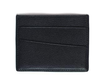 Black - leather card holder