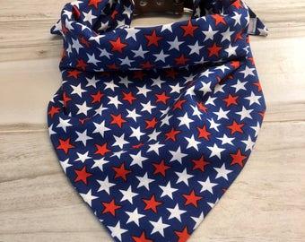 Patriotic Stars Dog Bandana