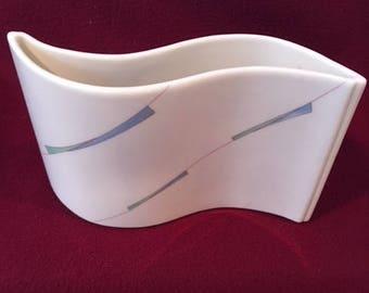 "Modernist/Minimalist ""Wave"" Vase - Royal Crown, Made in Japan - 1980's"