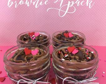 4 pack Nutella inspired fudgy brownies