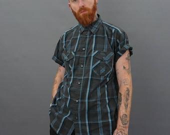vintage check short sleeve shirt