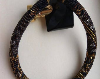 "Necklace in lustrous Czech beads ""Astreya"""
