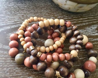 The Naturals Beaded Stretch Stack of 5