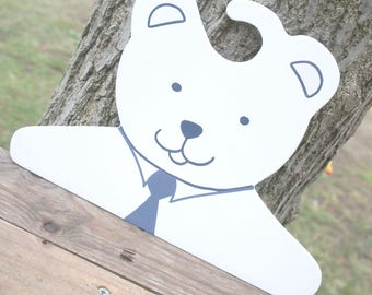 baby bear customizable wooden door hanger wood baby coat, closet decor baby decor nursery baby decor children bedroom
