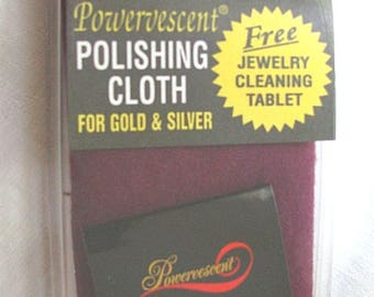 5 - Large Double Layer Jewelry Polishing Cloths, 1 to Polishing Gold and Silver With Powervescent™and 1 to Buff
