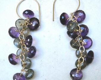Purple Smoke Earrings