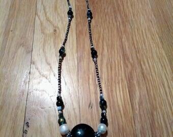 Obsidian Black Glass necklace