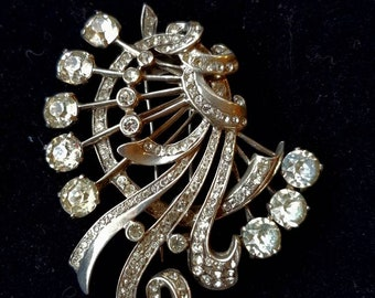 Gorgeous Eisenberg Art Deco brooch