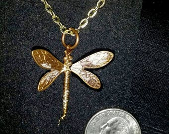 Hand Painted Dragonfly Pendant